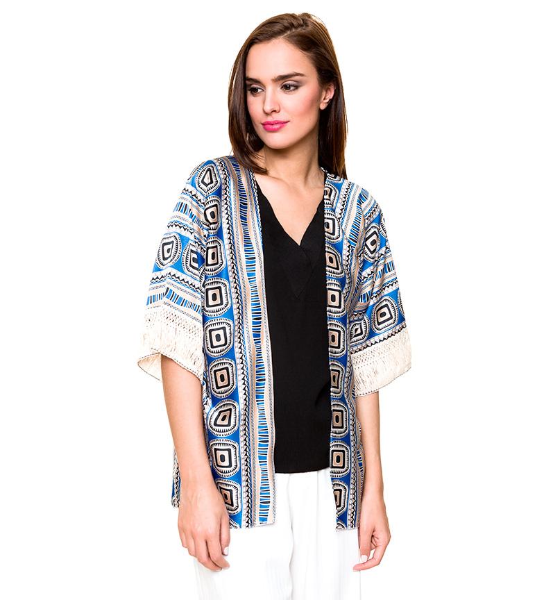 Comprar Azura Blue ethnic kimono