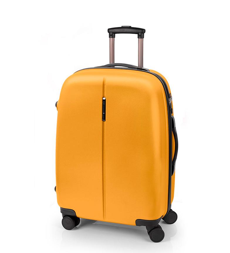 Comprar Gabol Trolley mediano Paradise cierre TSA mostaza -48x67x27cm-