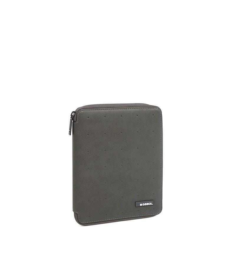 Comprar Gabol Portafolio Alpha A5 gris -18x23x3cm-