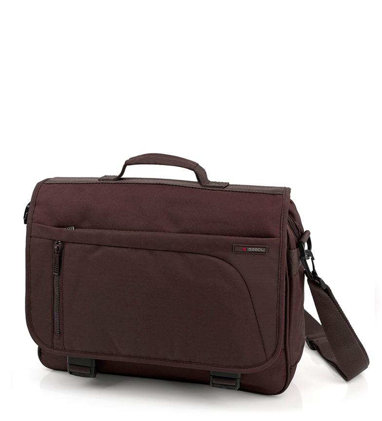 Comprar Gabol Cartera Crony marrón -38x28x9 cm-