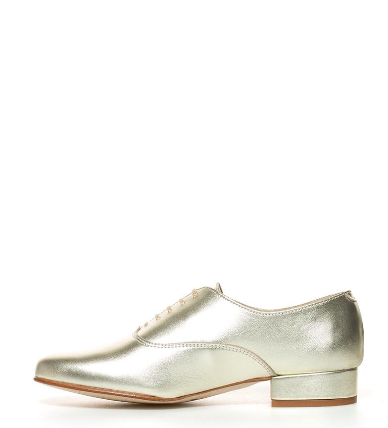 Zapatos piel de dorado D´Chicas Tea FdUExUgw