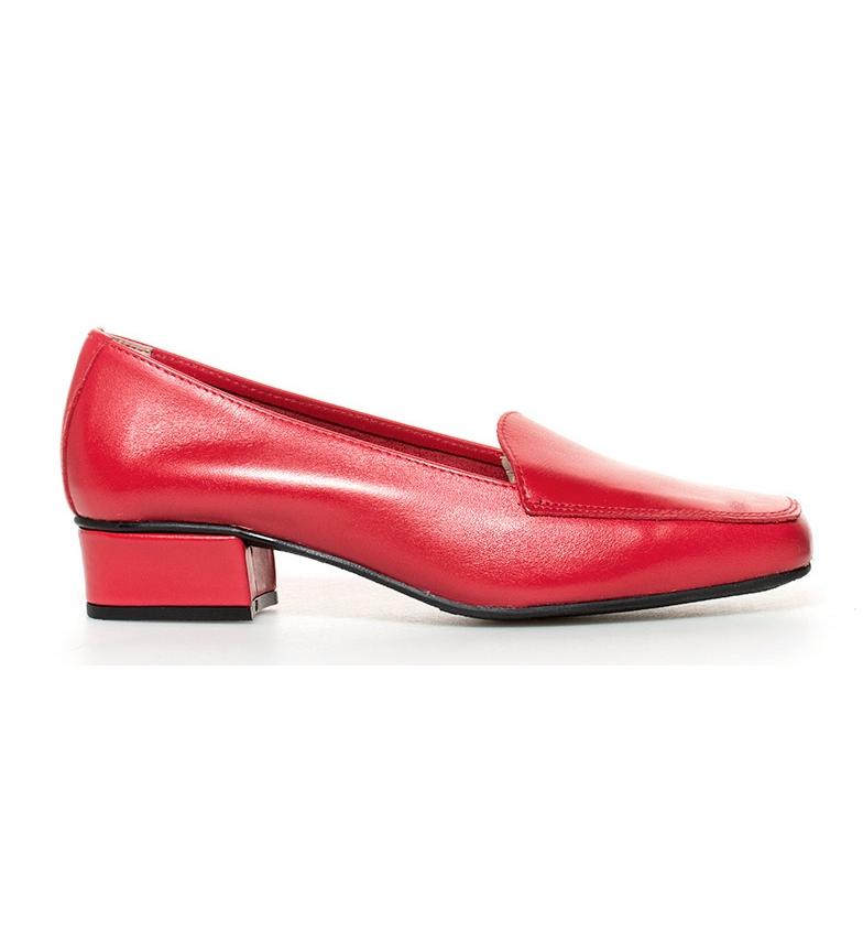 tacón de br 3cm rojo Altura Zapatos br piel Hebe D´Chicas PTRxU1q1