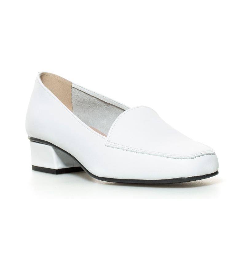 Hebe 3cm Altura piel Zapatos tacón de D´Chicas br blanco br tcw7qc6AU