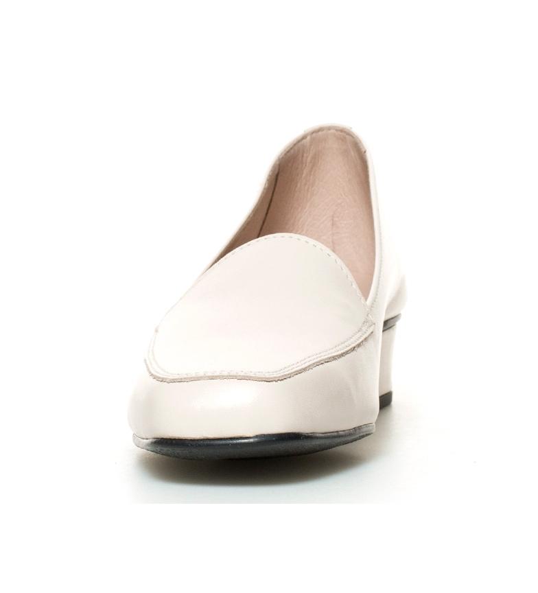 Zapatos 3cm crudo br Altura Hebe piel D´Chicas tacón de br zwOxZd