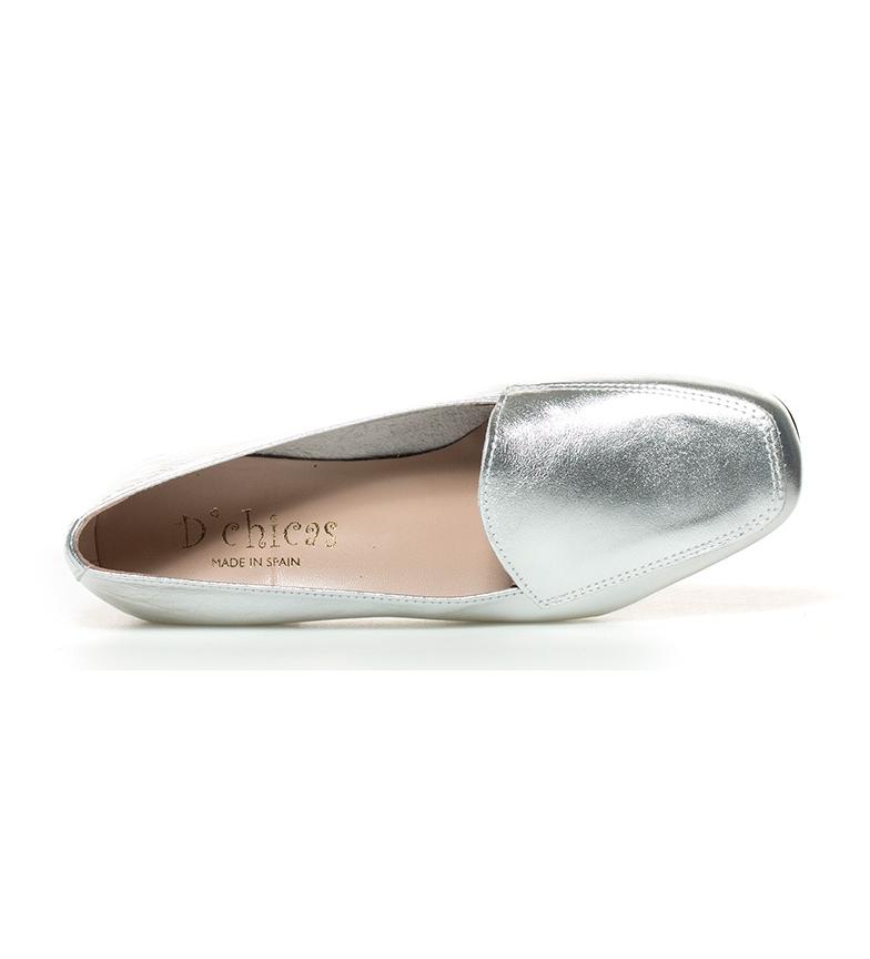 piel 3cm br Hebe tacón de Altura D´Chicas br Zapatos plata nUZaESp