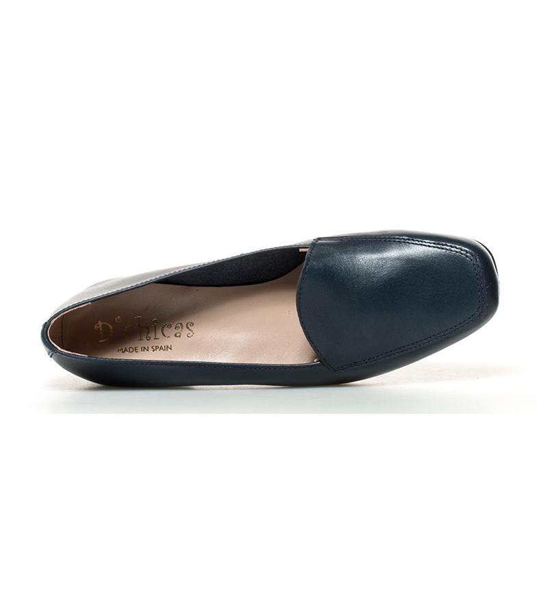 piel D´Chicas de tacón br Altura 3cm Zapatos br marino Hebe gg1EUwPq