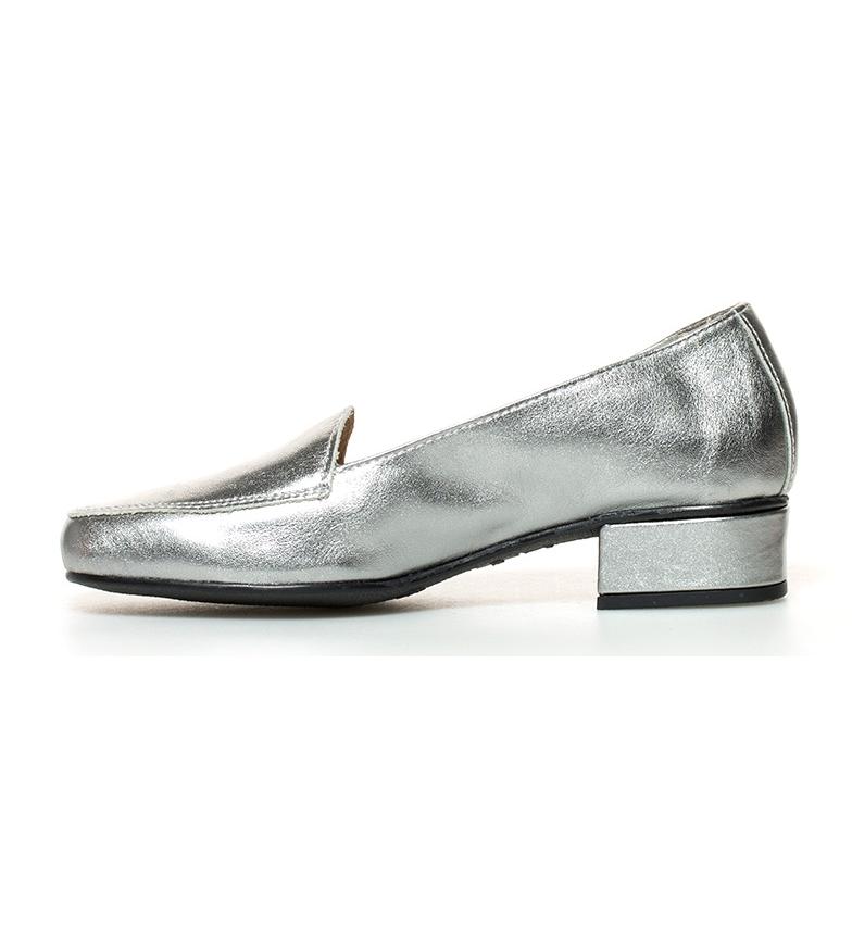 br br Zapatos tacón de 3cm piel Altura plateado D´Chicas Hebe YS7qXRX