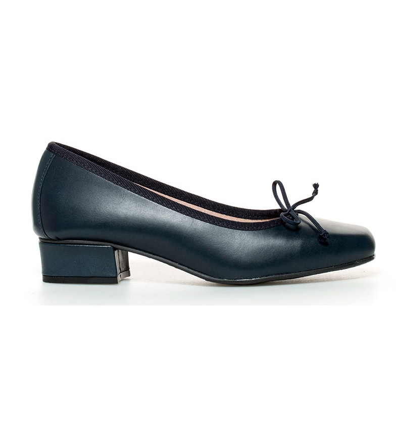 Comprar D´Chicas Leather shoes Viana marine-Height heel: 3cm-