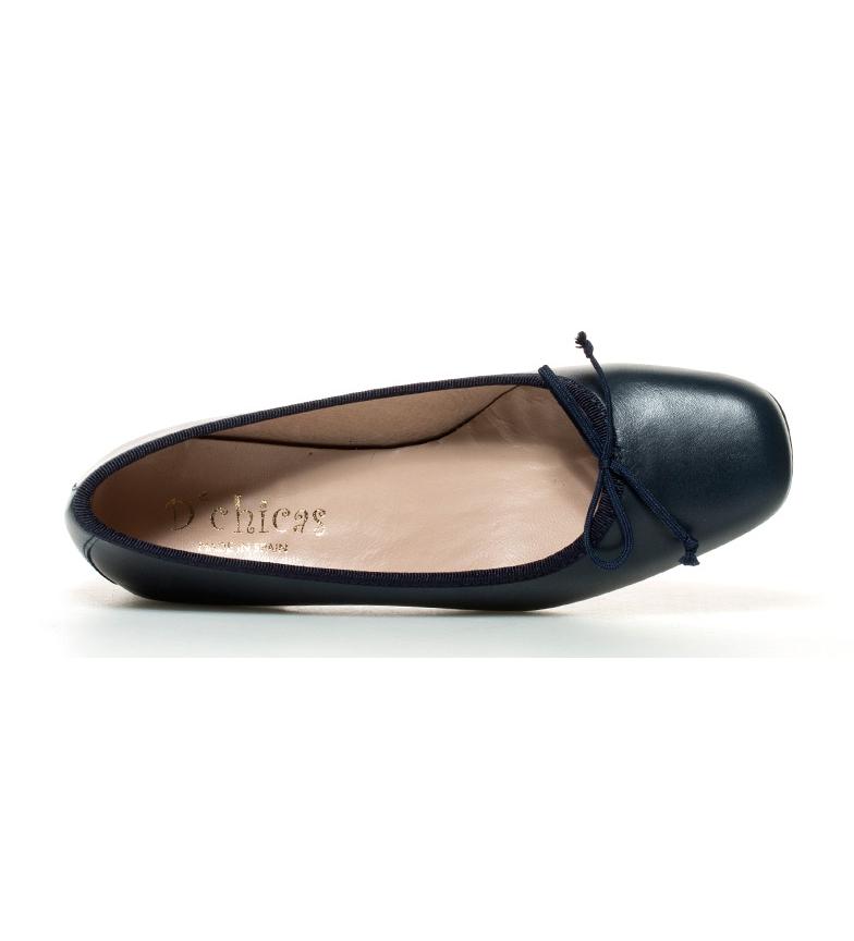 3cm Lux tacón piel marino Altura Zapatos br de br D´Chicas 7zTa7