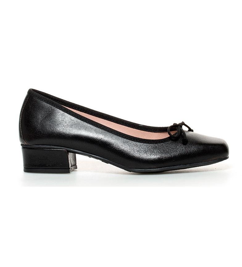 Comprar D´Chicas Viana tacco in pelle nera scarpe-alta: 3cm-