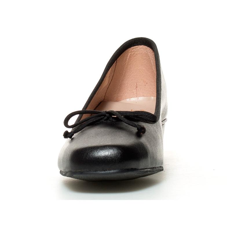 Altura tacón piel de negro Zapatos 3cm Lux D´Chicas RwXY4qx