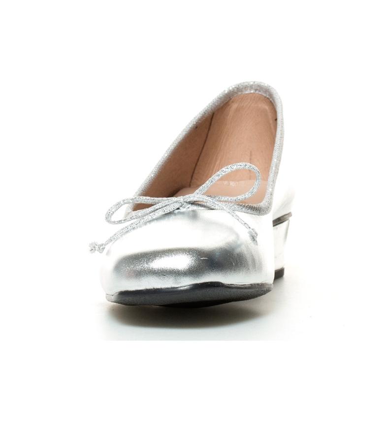 D´Chicas piel 3cm plata br Lux tacón br de Zapatos Altura rqwCpar