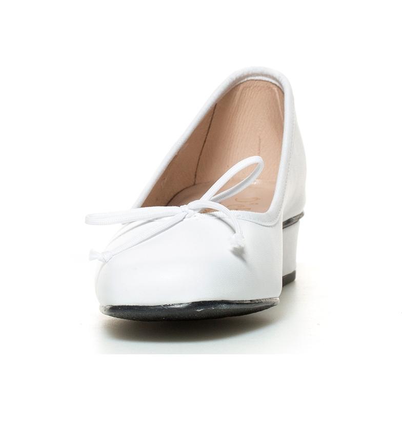 de piel br Altura D´Chicas tacón br Viana blanco Zapatos 3cm 54wEqwS