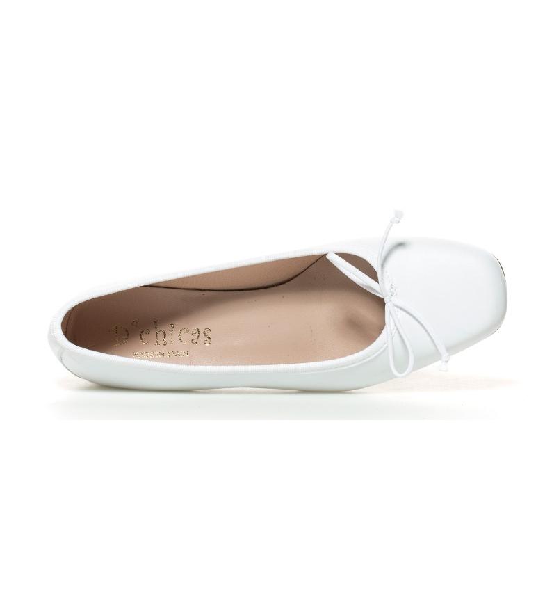 br piel Altura tacón br de 3cm Viana Zapatos D´Chicas blanco wpnqYBREx