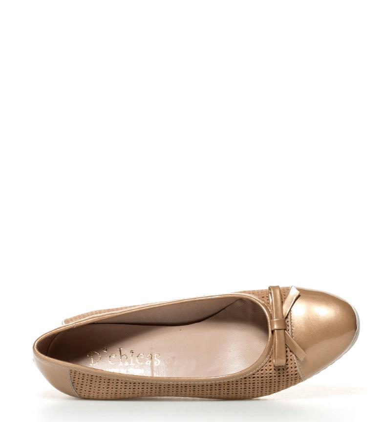 salg butikken tilbud D'chicas Skinnsko Mati Golden Wedge Høyde: 4cm VoHbuN
