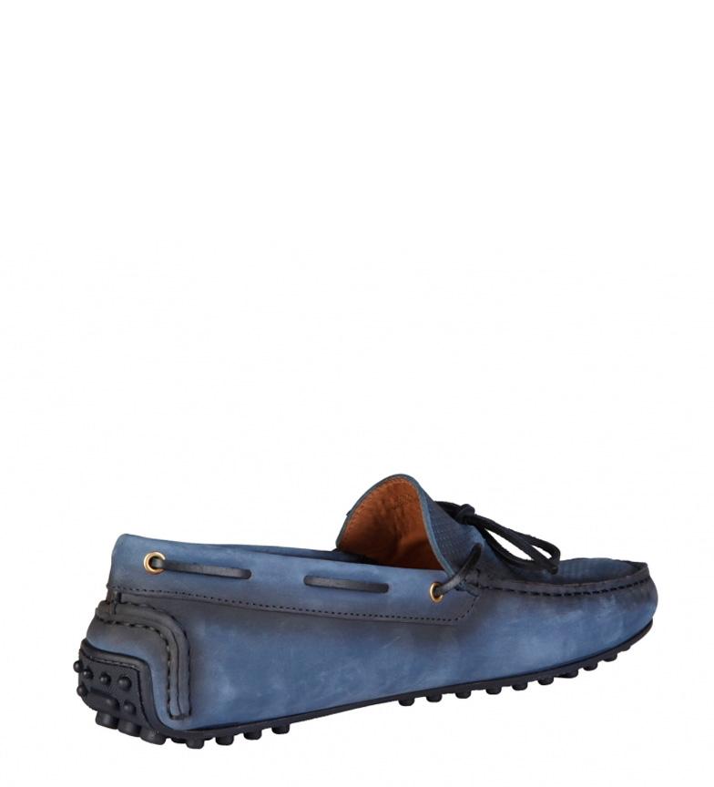 Trussardi Blått Skinn Loafers billig fasjonable yGRL8Wnhm5
