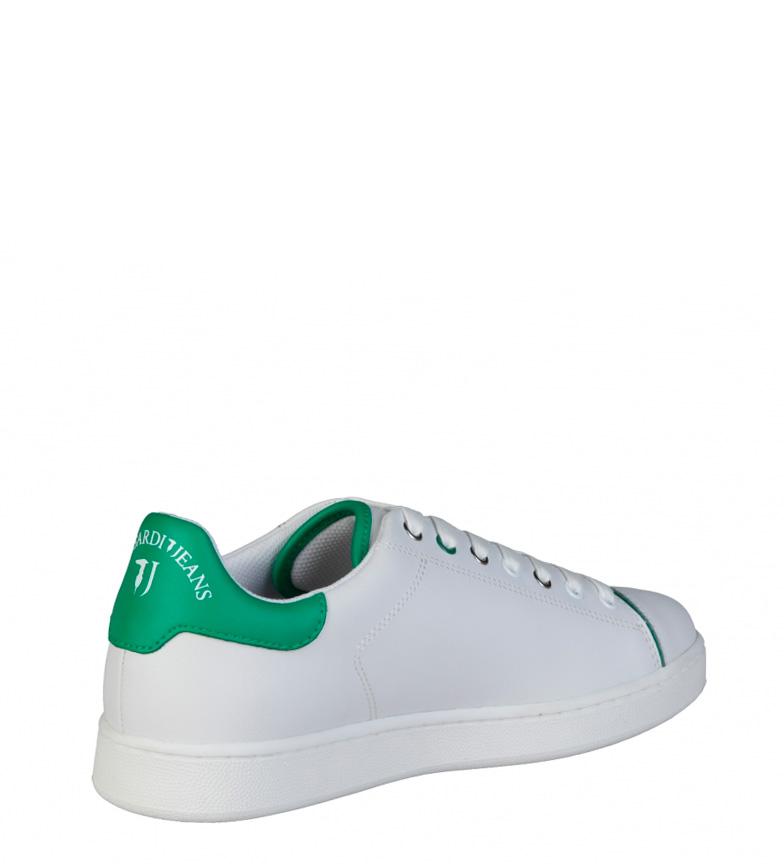 Trussardi Zapatillas de piel blanco, verde