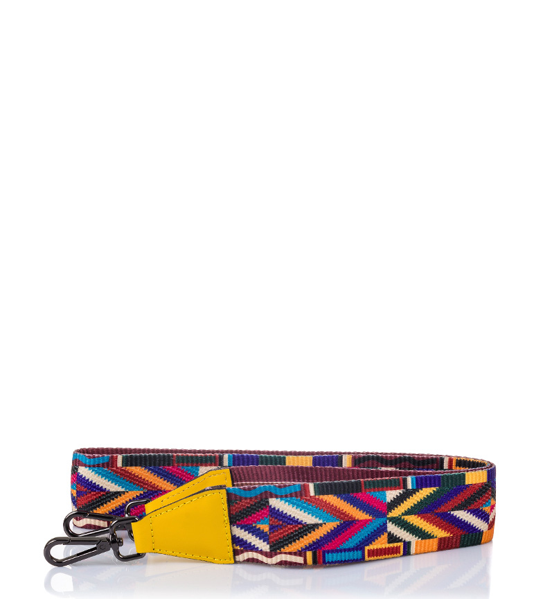 Comprar Firenze Artegiani Zia yellow leather strap, multicolour