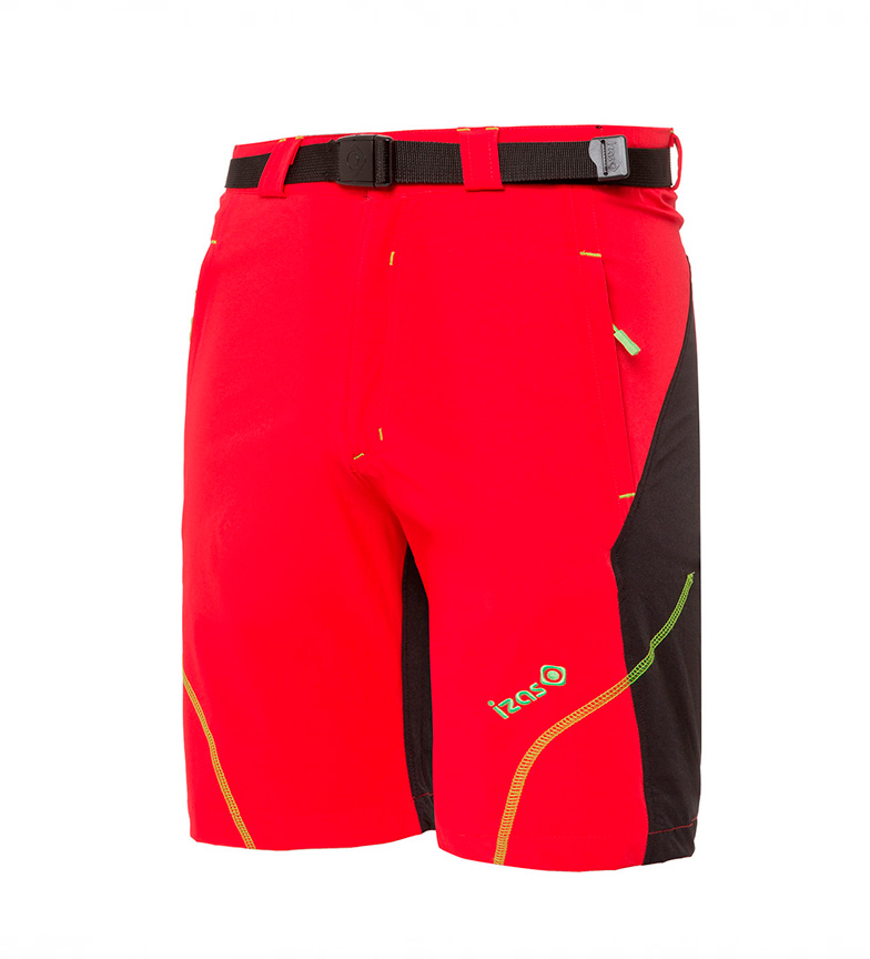 Izas Pantalones Moritz negro, rojo