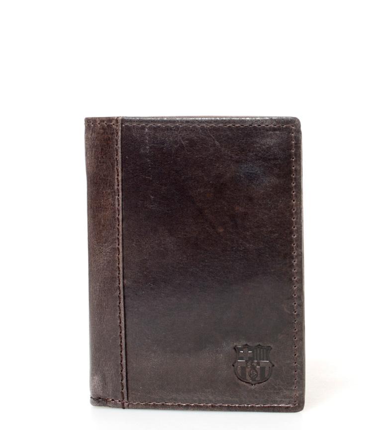 Comprar FC Barcelona FCB cuir marron billfold -11x8 cm-