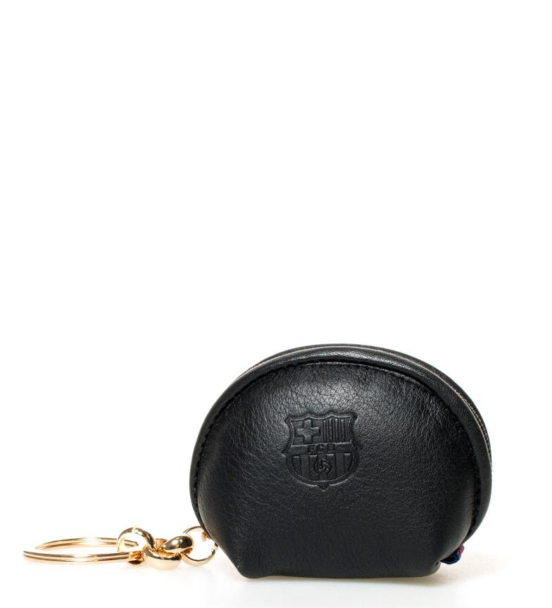 Comprar FC Barcelona Sac à main en cuir noir clé FCB -6x7,5 cm-