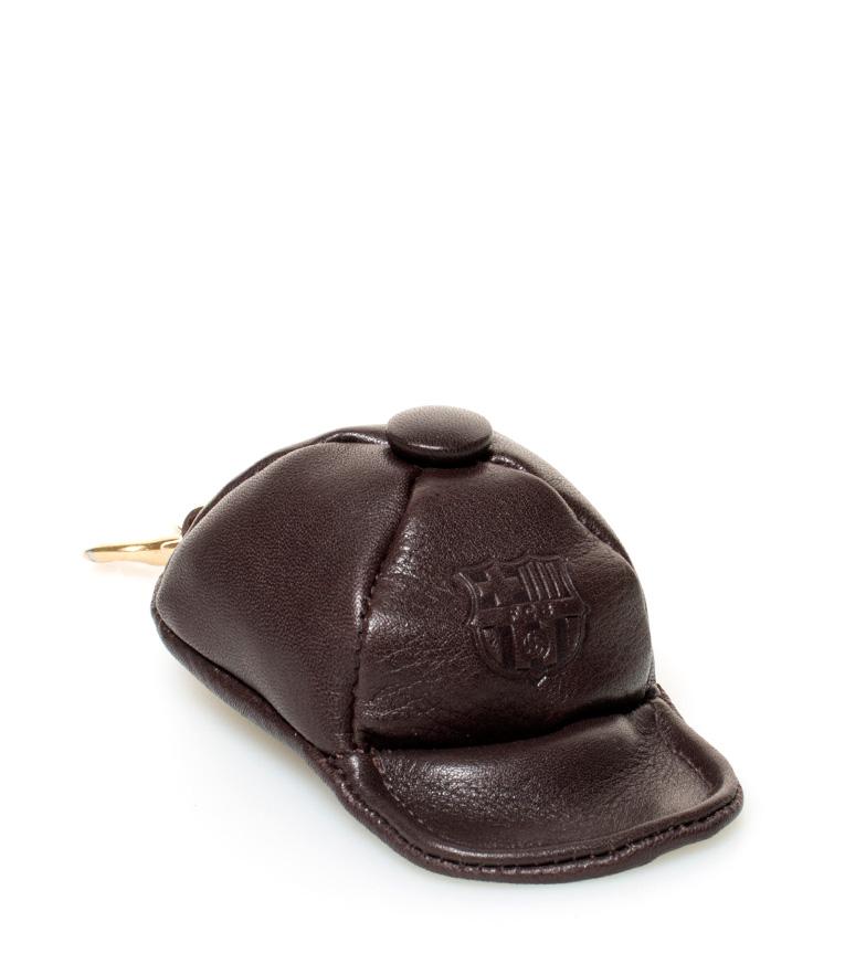 Comprar FC Barcelona Porte-monnaie en cuir brun clé FCB -4x5,5 cm-