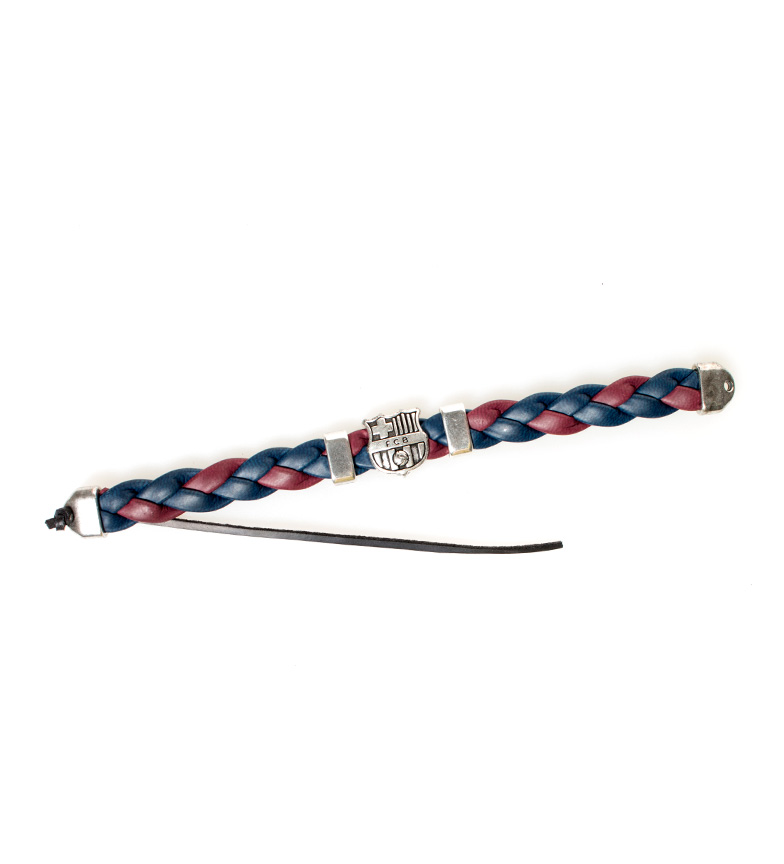 Comprar FC Barcelona FCB bicolor pulseira trançada