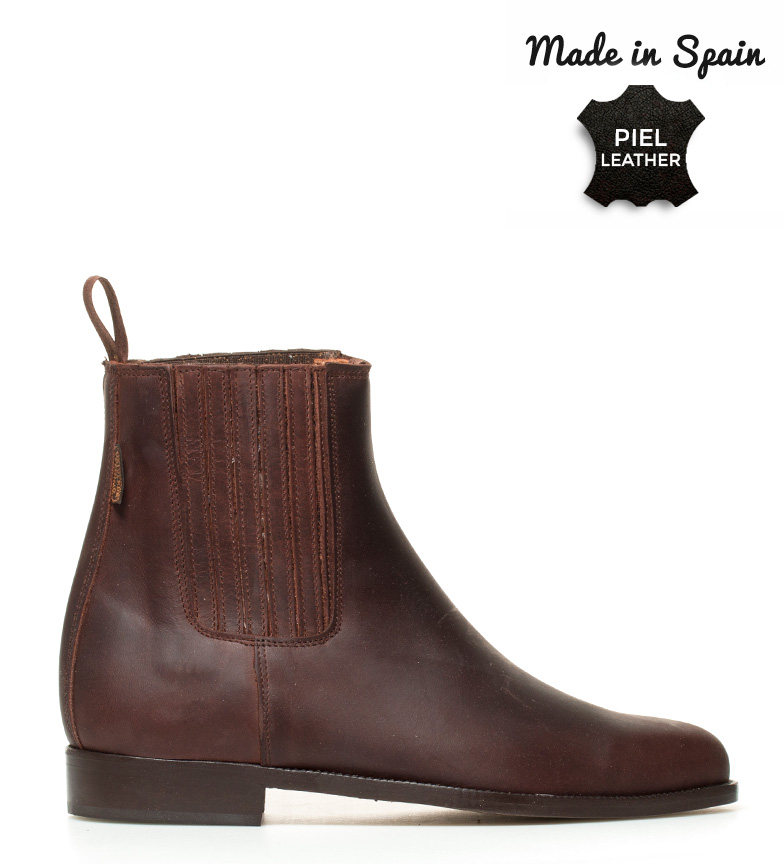 Comprar Herce Valverde Botte en cuir marron clair Moulé