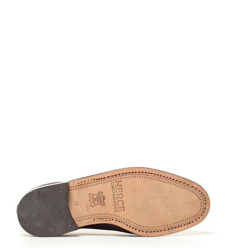 Zapatos Herce marrón piel de Valverde Blucher g5xnB