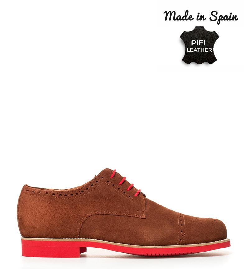 Comprar Herce Valverde Zapatos de piel Ingles marrón, rojo