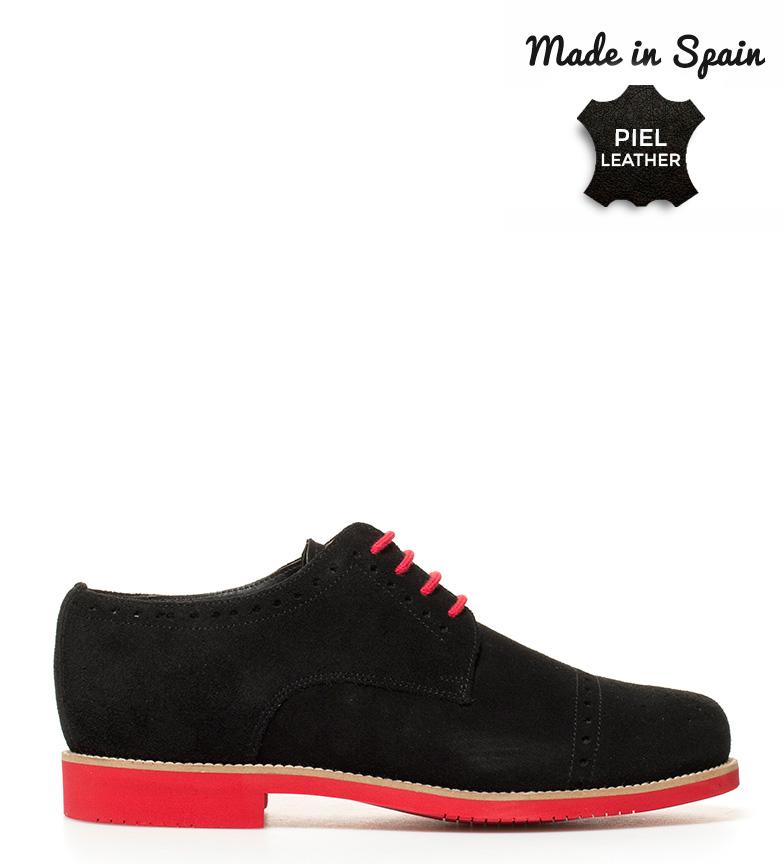 Comprar Herce Valverde Anglais chaussures en cuir noir, rouge