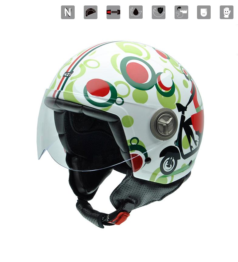 Comprar Nzi Jet helmet Zeta Graphics Scooter multicolored
