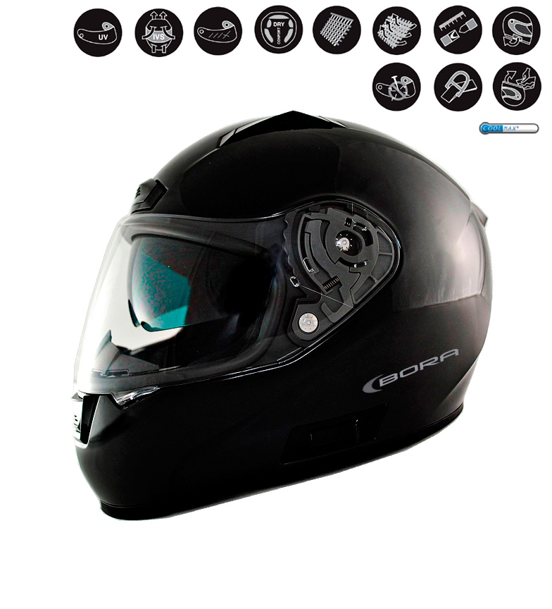 Comprar Lem Helmets Casco integrale LEM Bora nero metallizzato