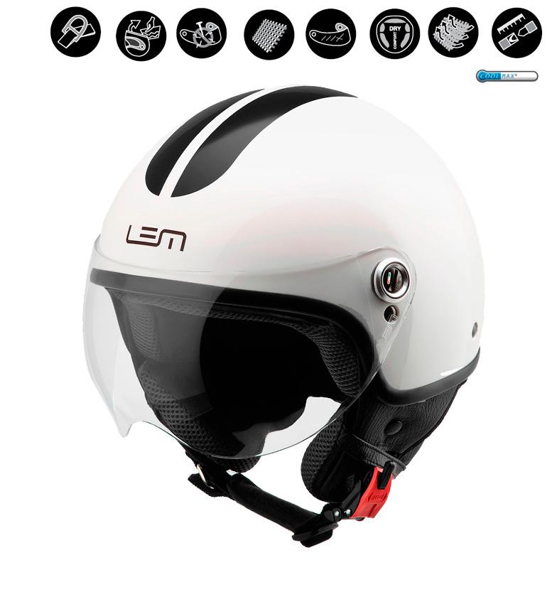 Comprar Lem Helmets Capacete jet LEM Roger branco