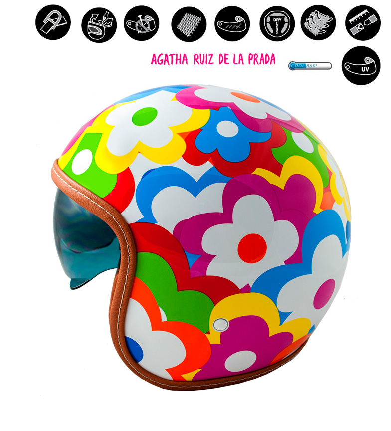 Comprar Lem Helmets LEM Sport Flores multicoloridas jet helmet