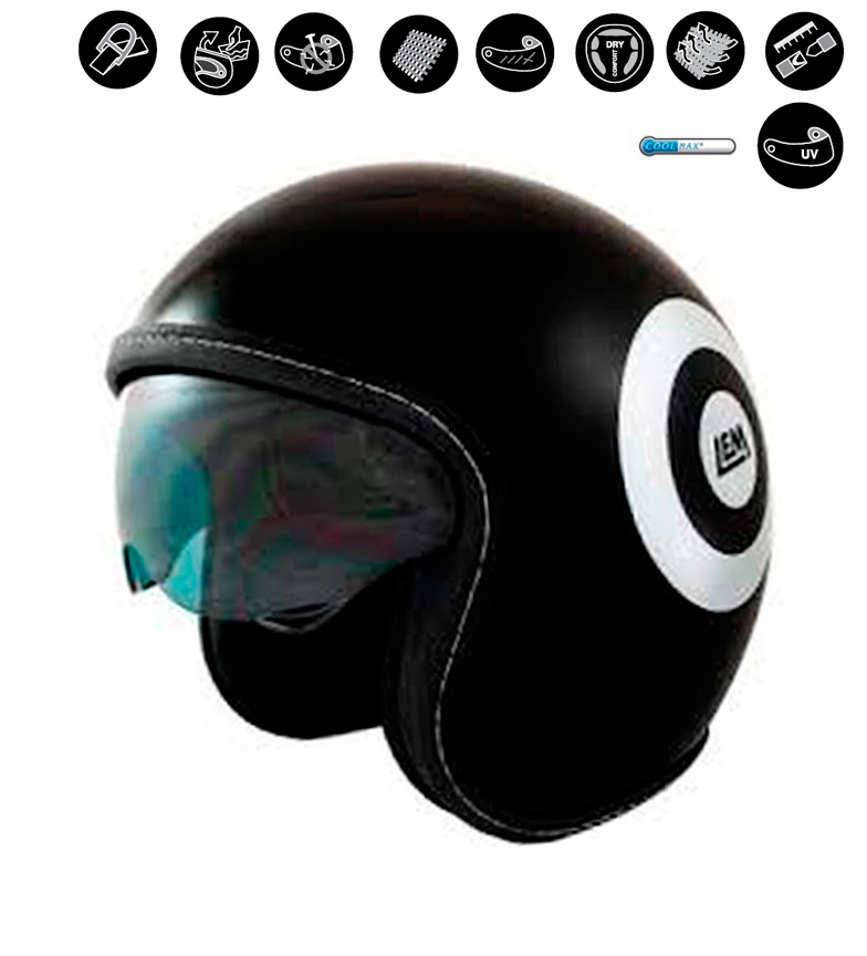 Comprar Lem Helmets Casco jet LEM Sport Dart negro