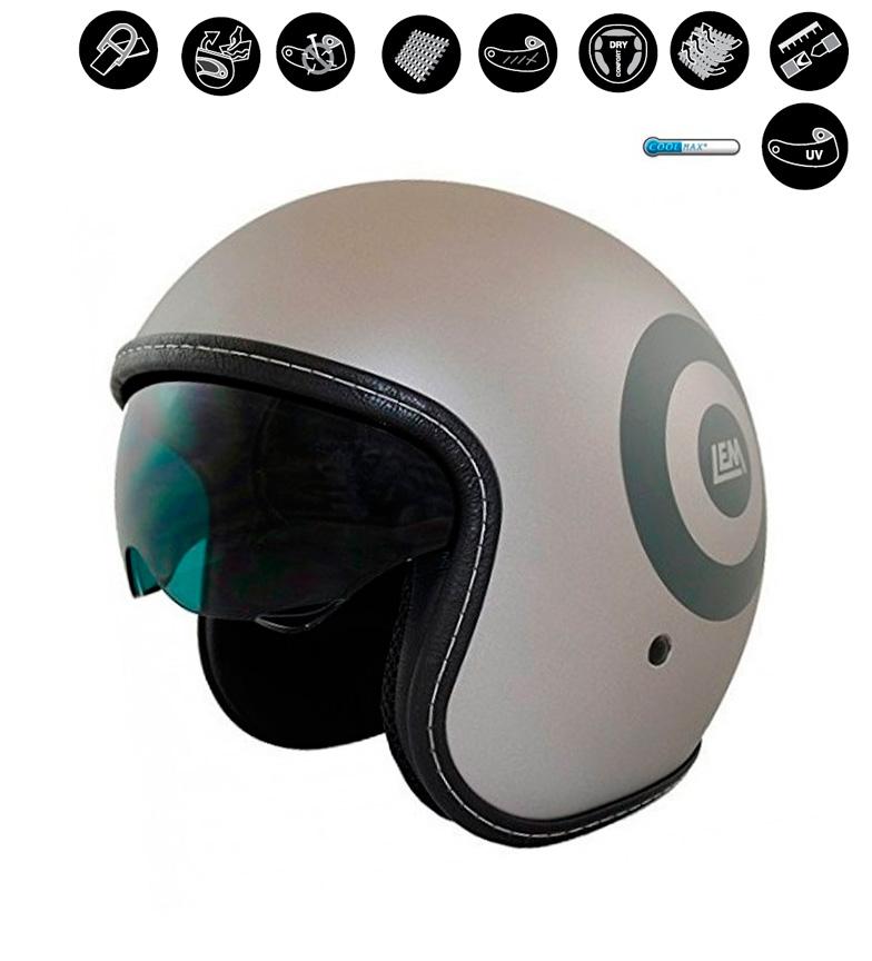 Comprar Lem Helmets Casco jet LEM Sport Dart gris