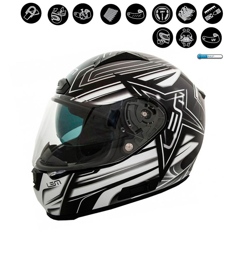 Comprar Lem Helmets Casco integral LEM Star negro, blanco