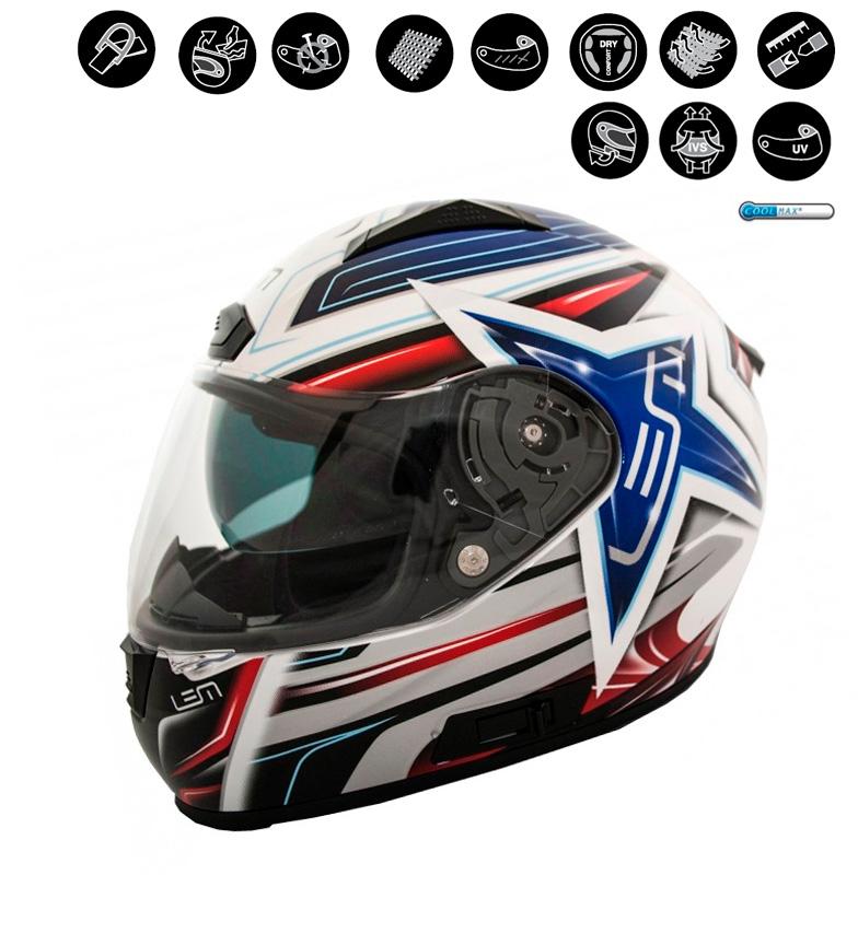 Comprar Lem Helmets Casque intégral LEM Star , bleu, blanc