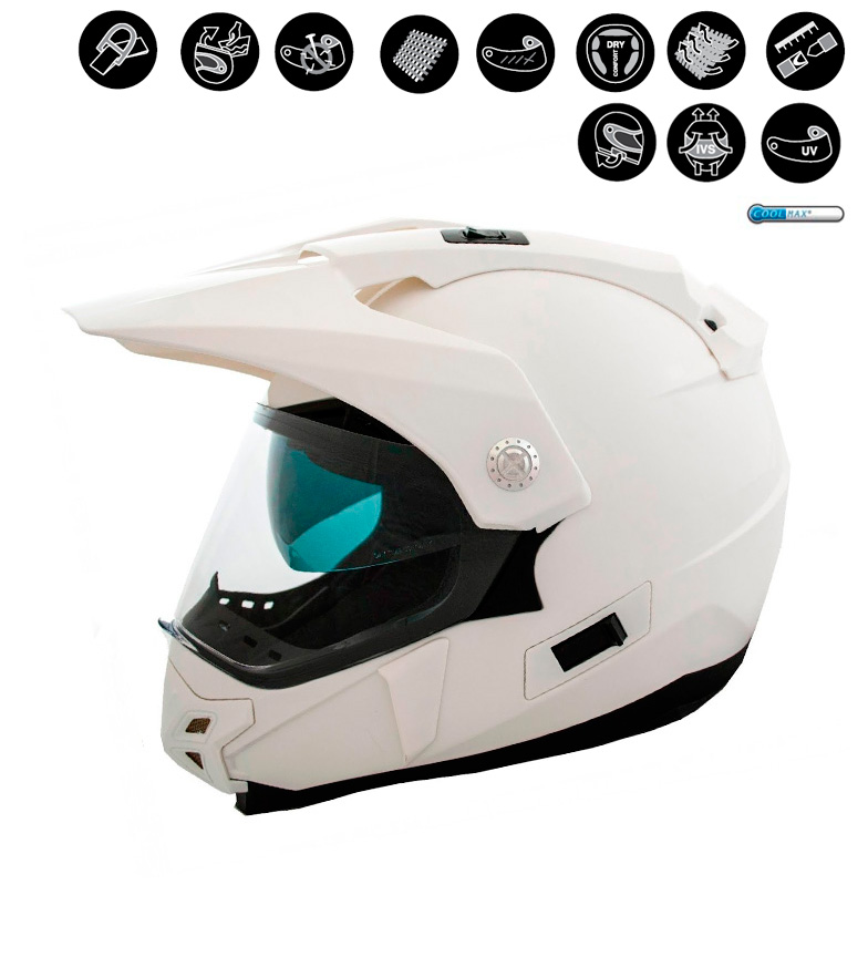 Comprar Lem Helmets Casco Off Road LEM Trail Solid blanco