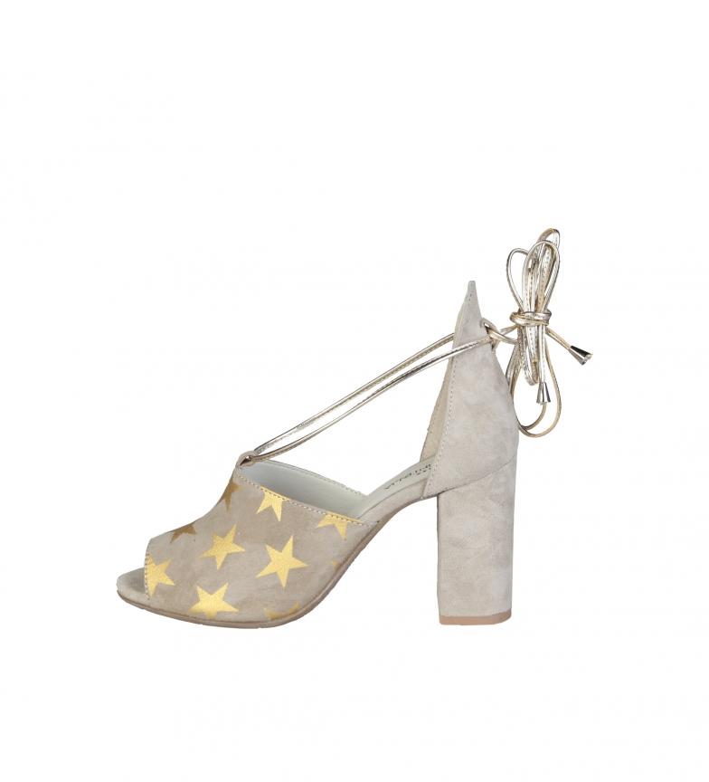 Comprar Made In Italia Sandalias de piel Simona taupe -Altura tacón: 9cm-