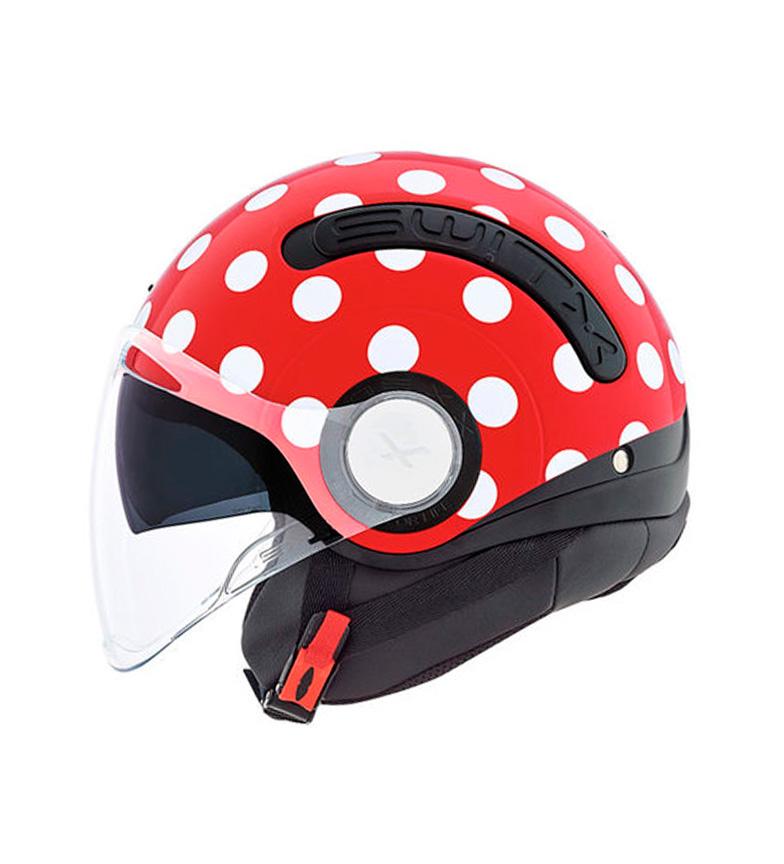 Comprar Nexx Helmets Casco Switx SX.10 vermelho, Polka branco