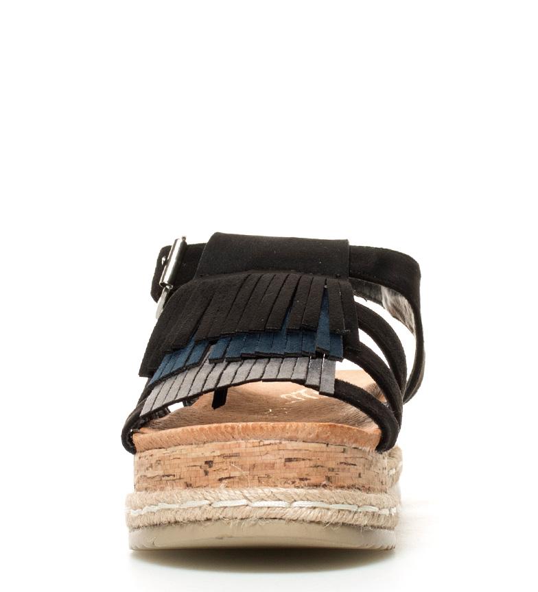 Sonnax plataforma Altura flecos 5cm negro Sandalias fxArqwfH