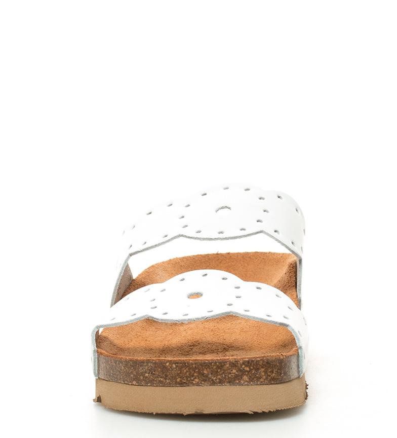 5cm Sandalias br suela 001 piel de blanco 4 br Yokono Denis Altura BwqFUU