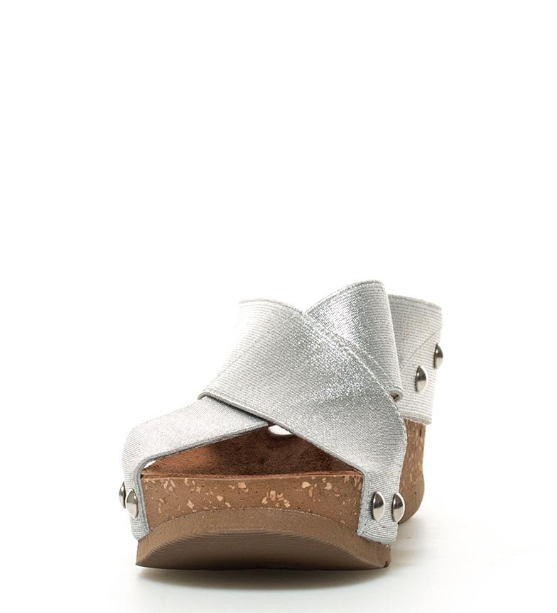 Sandalias plateado cuña 7cm Bari br br Yokono Altura 012 qtUdtz