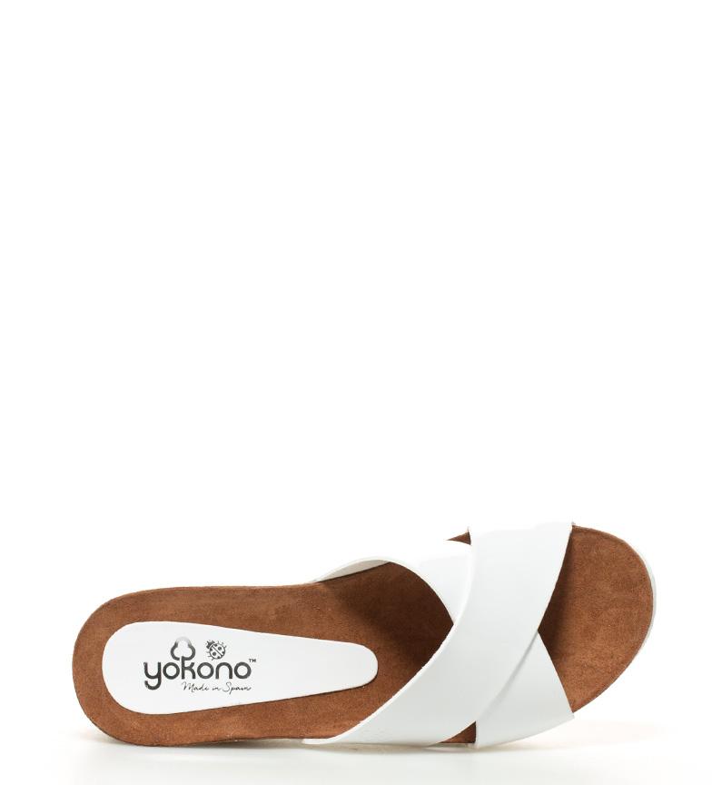 Yokono br Bari br Sandalias 7cm Altura blanco 005S cuña XwBfXnrqx