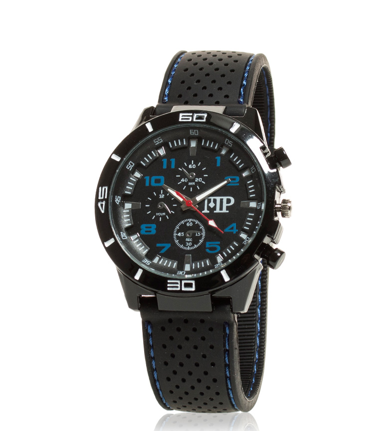 Comprar Marsan Piel Breve preto relógio analógico, azul
