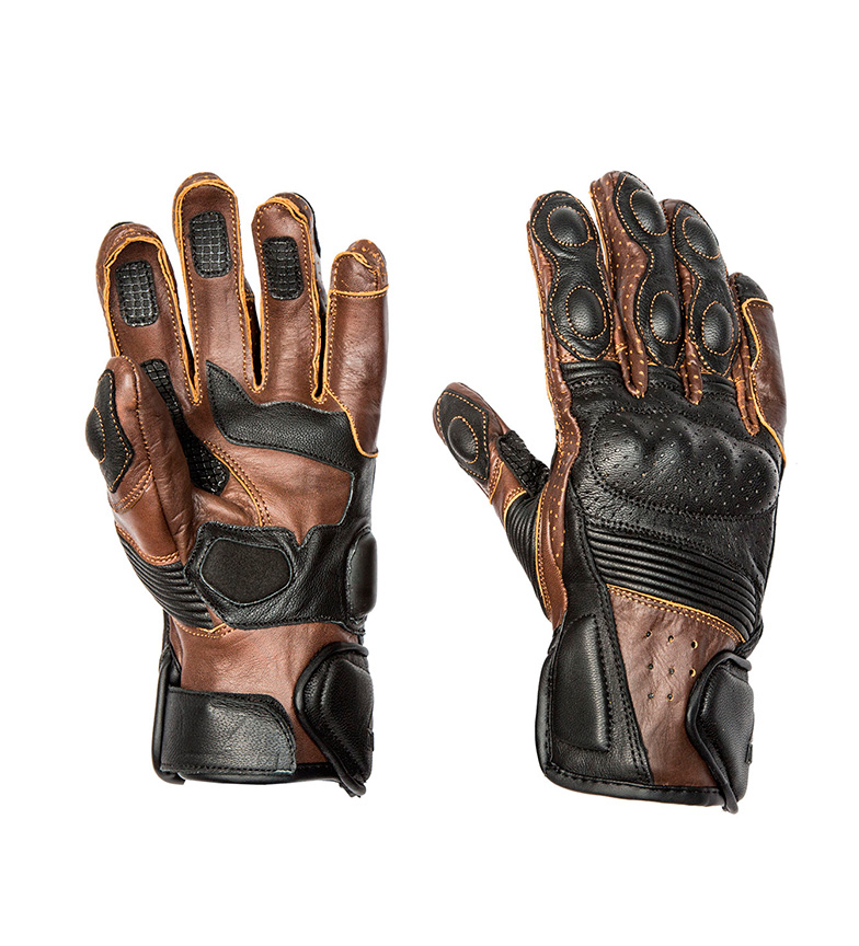 Comprar By City Brown Rider Leather Gloves, Black