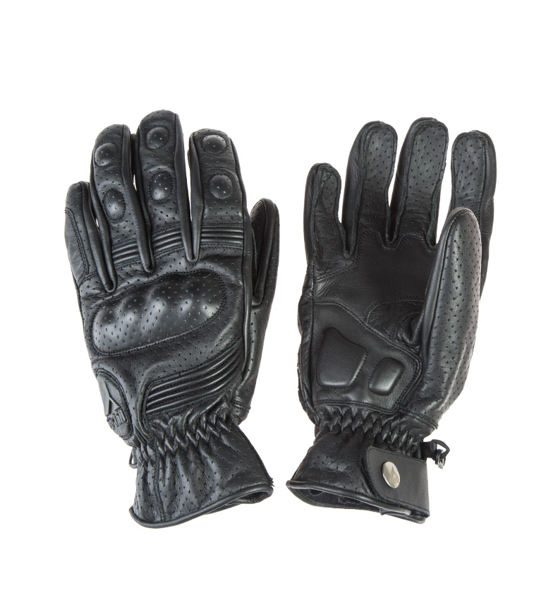 Comprar By City Retro II black leather gloves