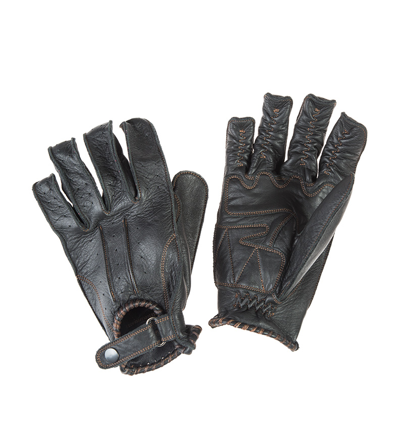 Comprar By City Guantes de piel Second Skin Lady negro
